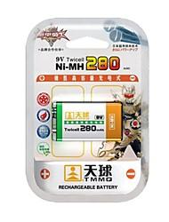TMMQ TQ-MH07 9В высокой емкости NiMH аккумуляторы