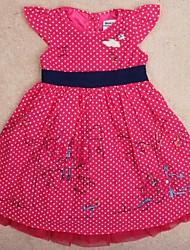 vestito da partito dei vestiti dei bambini vestiti complessivi vestito pois stampa principessa di estate di stampa casuale