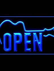 Open Guitar Music Shop Advertising LED Light Sign