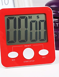 Plastic Fashion Electronic Timer in The Kitchen 10*10.5*2cm, Random Color