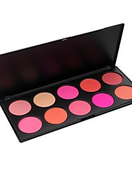 Professional 10 Color Makeup Face Blush Palette