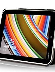 urso tímido ™ slim case capa de couro inteligente fortoshiba bis wt8 at01g 8 tablet multi cor com suporte