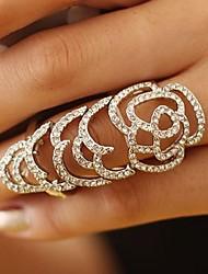 estilo totalmente diamante escavar rosa anel de junta móvel elástica (mais cores)