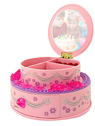 "7.2""Princess Style Cosmetic Storage Box Design Music Box"