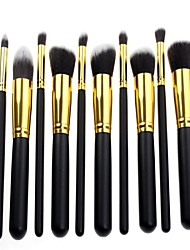 Newest Pro High Quality 10 Pcs Makeup Brush Set Synthetic Hair