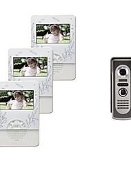 4,3-Zoll-Farb-TFT-LCD 420 Linien Video-Türsprechanlage mit 1 bis 3