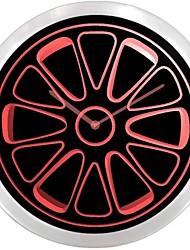 Rueda del neumático de coche ideal muestra de neón LED reloj de pared