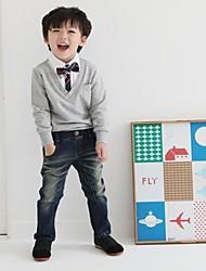 Boy Fashion Casual Schule Stil mit langen Ärmeln V-Kragen-Sweatshirt