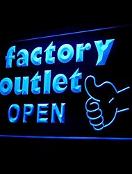 Factory Outlet Open Advertising LED Light Sign