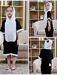 Crianças Preto Panda Modal Kigurumi pijama para o verão