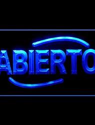 Abierto Bar Pubblicità Light LED Sign