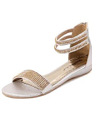 Women's Flat Heel Comfort Sandals with Rhinestone and Zipper Shoes(More Colors)
