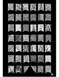 1pcs 42 Pflanzenmuster Nail Art Stamping Stempel Vorlage Platte d
