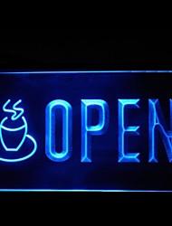 Открыть кафе Реклама светодиодные Вход