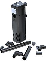 ультра-тихий воздушный насос внутренний фильтр фильтрация полиэтилен оборудование 3-в-1 (3w, 200л / ч)