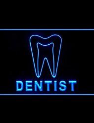 publicidad dientes dentista llevó la muestra de la luz