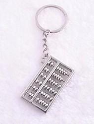 Abacus Pattern Keychain Silver Aluminium Alloy Toys