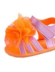Mädchen Flat Heel Slingback Sandalen mit Blumen-Schuhe