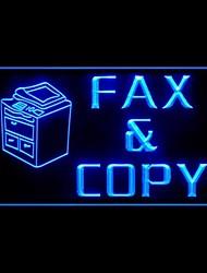 факс и копировальный центр рекламы привело свет знак