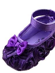 Talon plat bout rond Appartements de coton fille avec la fleur Chaussures