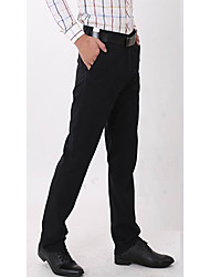 Men's Solid Formal Chinos Black / Blue / Green / Gray