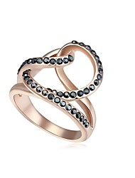 Women's 18KRGP Crystal Beaded Magic Love Statement Ring (More Colors) (1 pc)