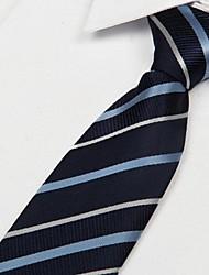 Elegante Azul Jacquard Weave gravata dos homens
