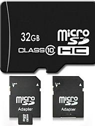 32GB Class 10 SD/SDHC/SDXC / MicroSD/MicroSDHC/MicroSDXC/TF / Adapters & CasesMax Read Speed10 (MB/S)Max Write Speed10 (MB/S)