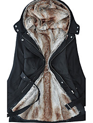 Women's Hoodie Thick Parka Belted Winter Coat