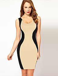 YLK Women's Backless Sleeveless Pencil Dress