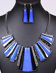 Venta caliente clásico colorido de la aleación de silicona (collares y aretes y) Set de Joyas de piedras preciosas (más color)