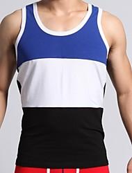 Men's Fashion   Stripes Slim Sleeveless Tanks