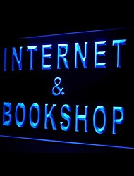 Internet Book Shop Green Blue Red White Orange Purple Yellow Advertising LED Light Sign
