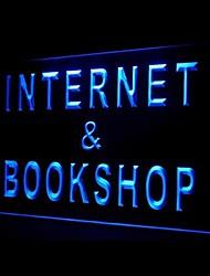 Internet Book Shop Bleu Vert Rouge Blanc Orange Violet Jaune Publicité LED Connexion