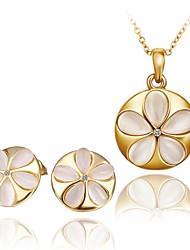 Opala à moda na moda Embutidos colar e brincos conjunto de jóias (cores sortidas)