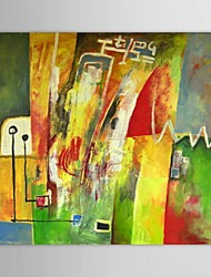 Hand Painted Oil Painting Abstract Colors for Living Room with Stretched Frame