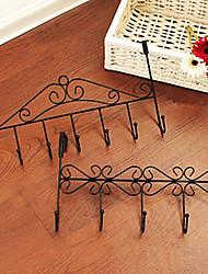 Ferric Hook,Five Hooks,L38cm xW23cm xH5cm