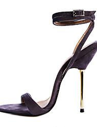Beflockung Frauen Pfennigabsatz Slingback-Sandalen Schuhe (mehr Farben)
