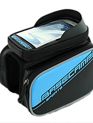 Bike Frame Bag / Cell Phone Bag Cycling/Bike For Waterproof / Shockproof / Wearable / Touch Screen , Blue , PU Leather / EVA)