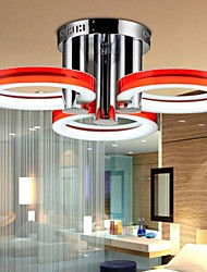 18 Flush Mount ,  Modern/Contemporary Chrome Feature for LED Metal Living Room / Bedroom / Study Room/Office