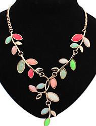 Welly Women's Bohemian Leaf Gem Necklace