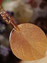 Fashion Golden Leaves Long Necklace
