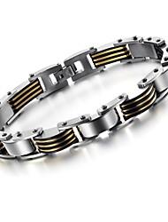 золотой черный прохладный между титановой стали мужской браслет ювелирных изделий