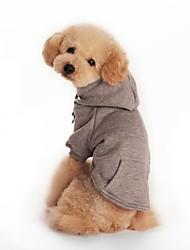 Hunde Kapuzenshirts Rot Orange Schwarz Grau Hundekleidung Winter Frühling/Herbst einfarbig Sport Lässig/Alltäglich