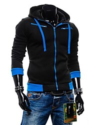 Zian® Men's Hoodie Fashion Slim Fleece Casual Long Sleeve Cardigan Hoodie O