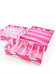 3 Pcs Nonwovens Women's Underwear Storage Box