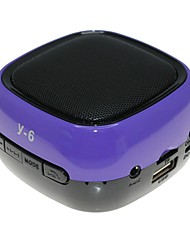 Y-6 MiNi Bluetooth Speaker Micro SD Mic USB AUX FM Portable Handfree for iPhone Samsung and Other Cellphone