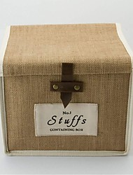 Multi-function Folded Cloth Art Jute Clothes Storage Boxes (Size :Small)