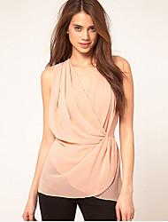 COCO ZHANG Women's Deep V Neck Multilayer High Waist Dress