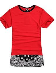 o-collo rosso bandana zip lunga stile t-shirt da uomo mens rap di strada